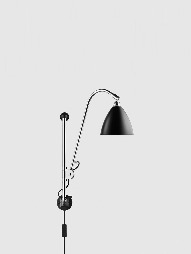 BL5 Wall Lamp – Chrome Base – Black