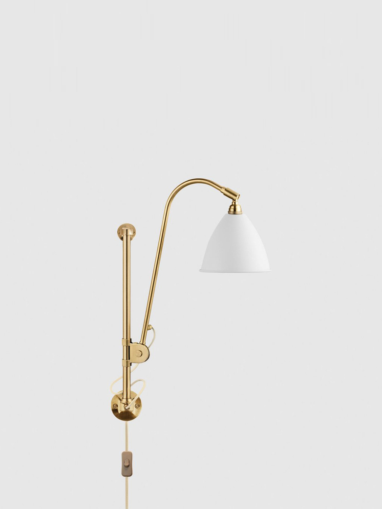 BL5 Wall Lamp – Brass Base – White
