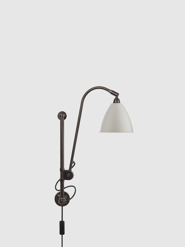 BL5 Wall Lamp – Black brass base – Classic White