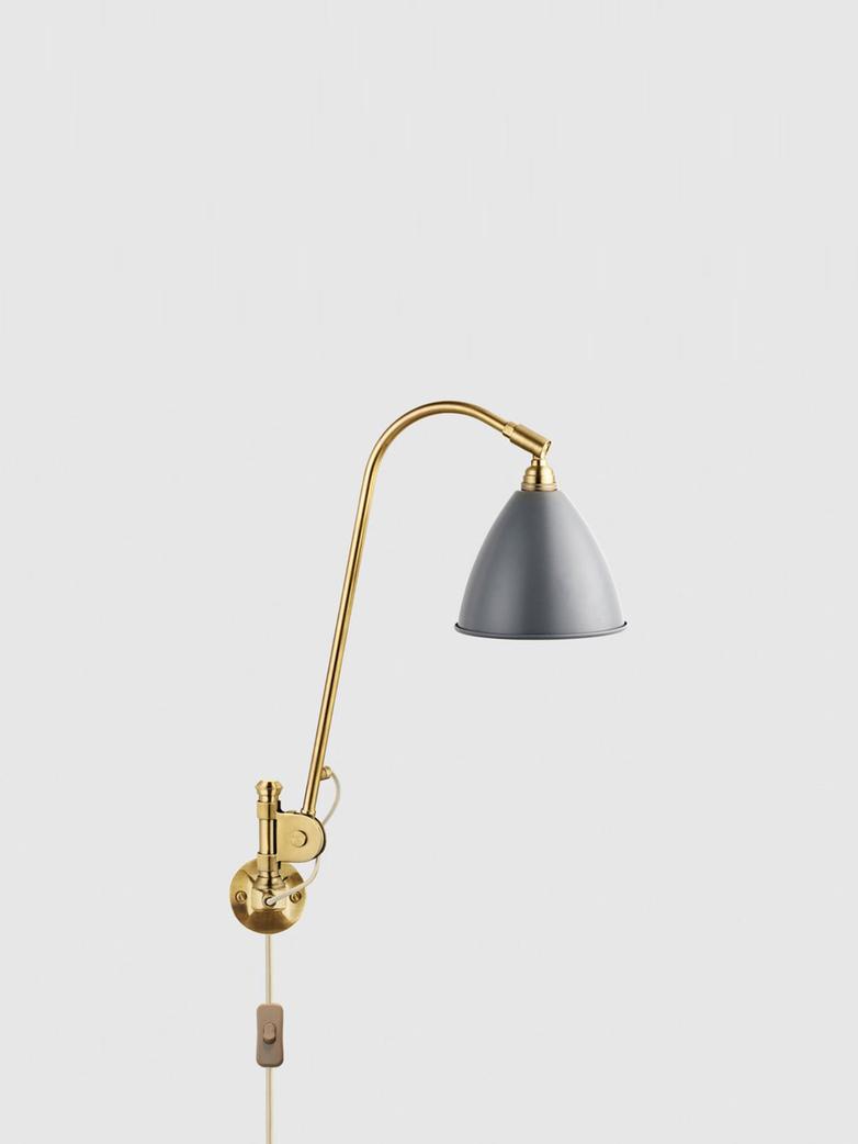 BL6 Wall Lamp - Ø16 - Brass Base - Grey Semi Matt