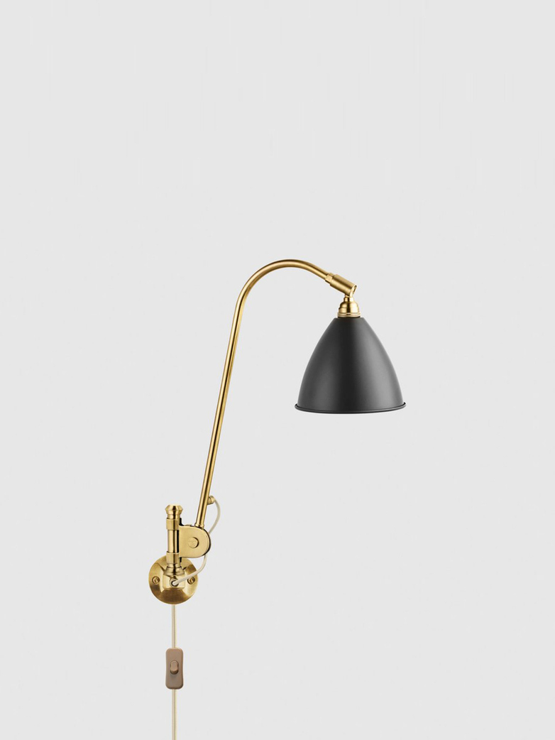 Bestlite BL6 Wall Lamp – Brass Base – Black
