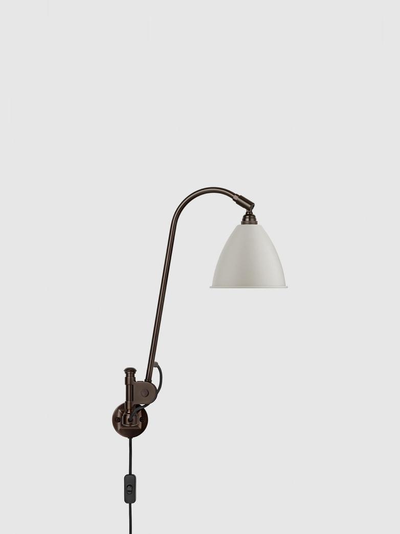 Bestlite BL6 Wall Lamp – Black Brass Base – White