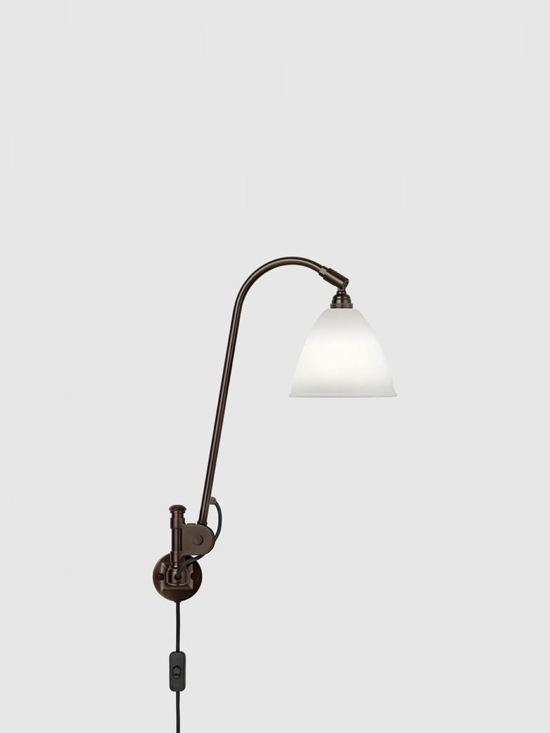Bestlite BL6 Wall Lamp – Black Brass Base – Bone White China