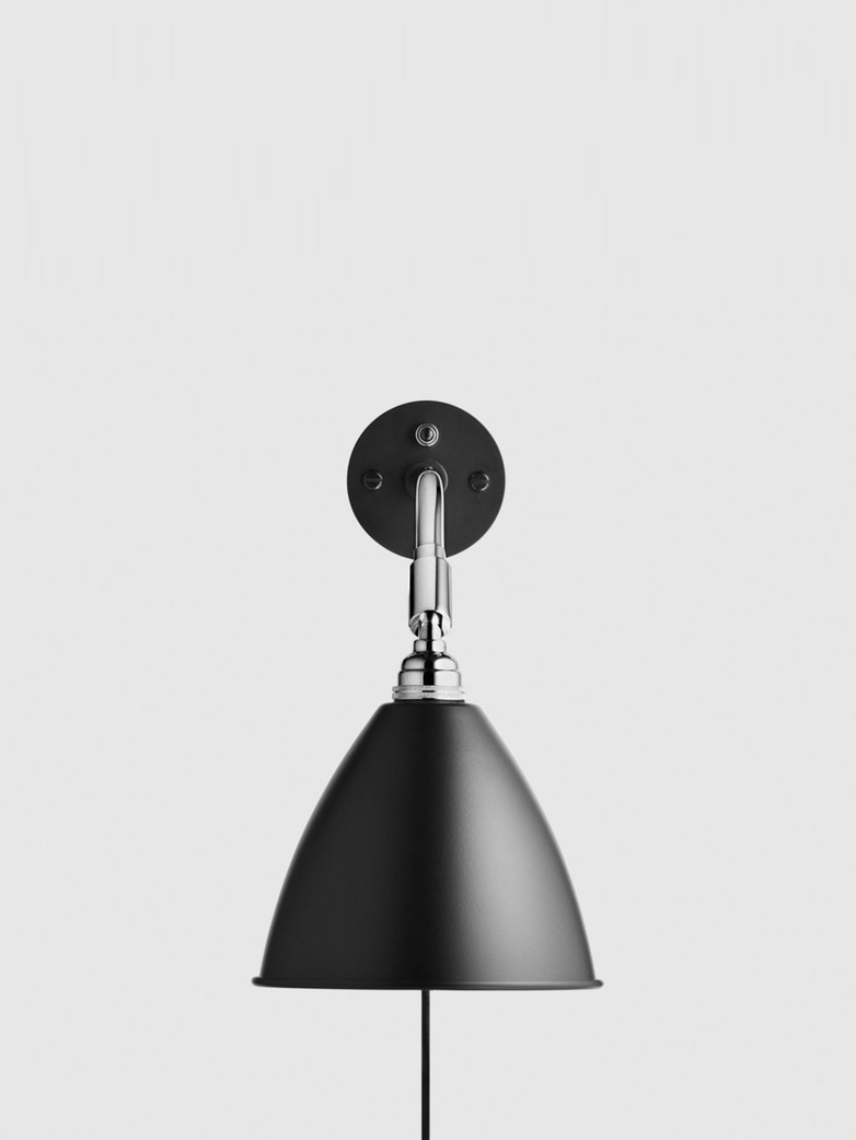 Bestlite BL7 Wall Lamp – Chrome Base – Black