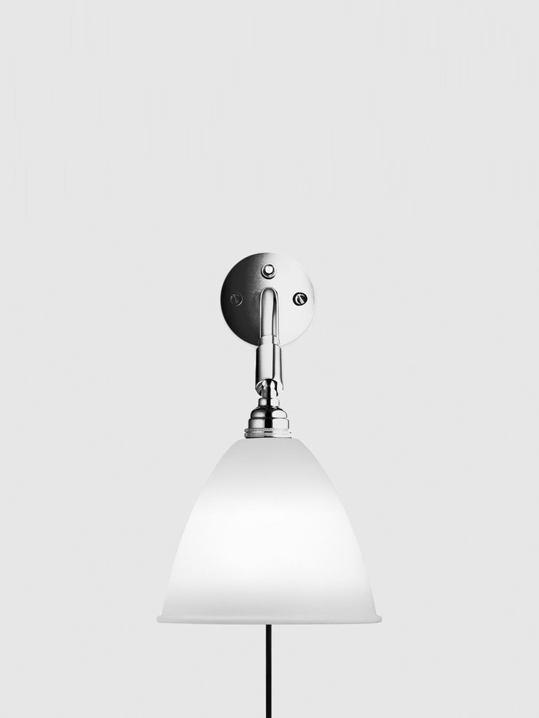 Bestlite BL7 Wall Lamp – Chrome Base – Bone China White
