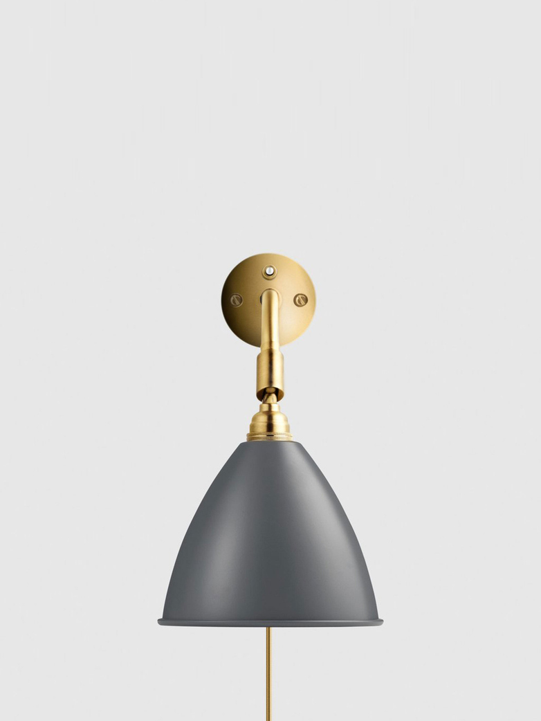 Bestlite BL7 Wall Lamp – Brass Base – Grey