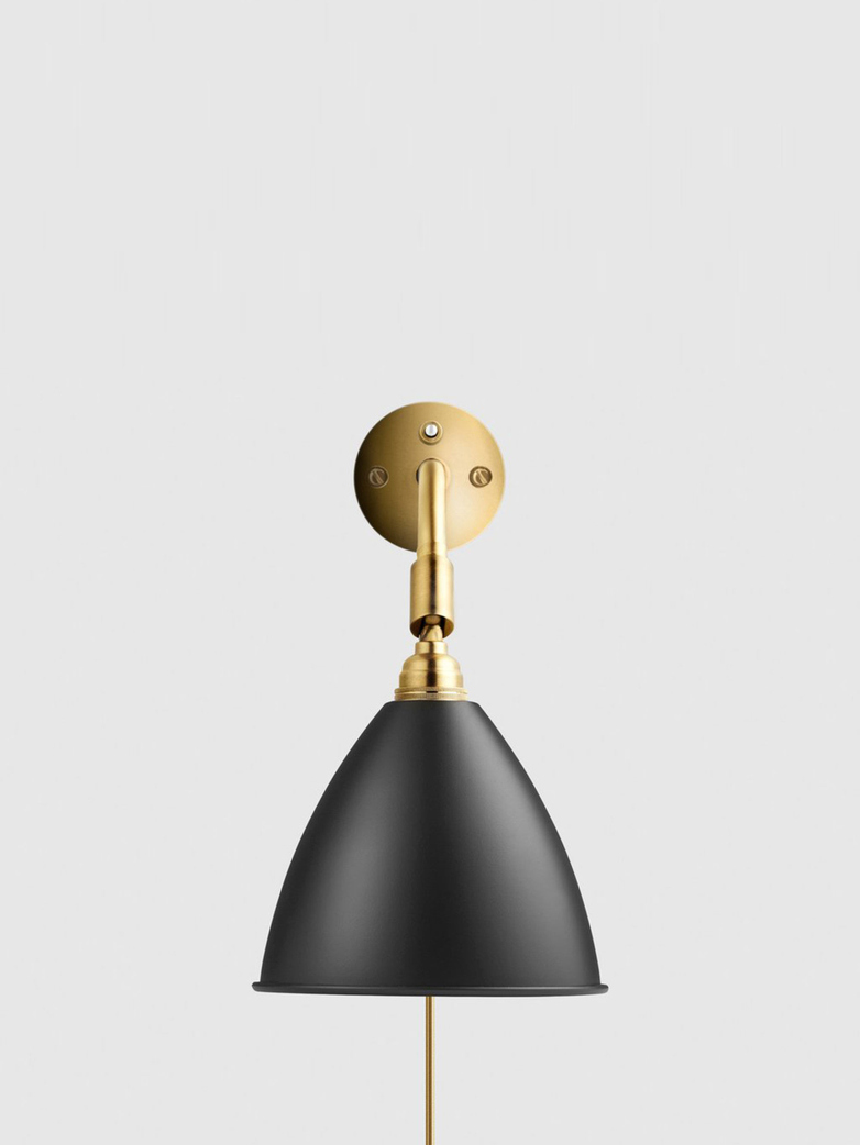 Bestlite BL7 Wall Lamp – Brass Base – Black