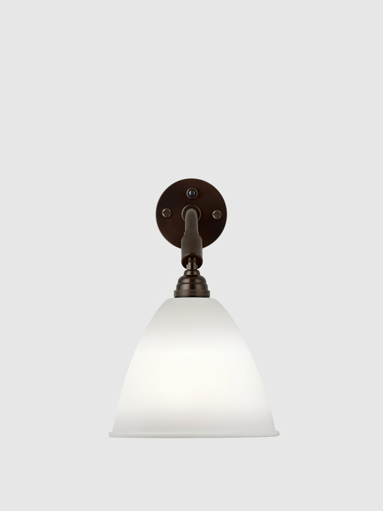 Bestlite BL7 Wall Lamp – Black Brass Base – Bone China White