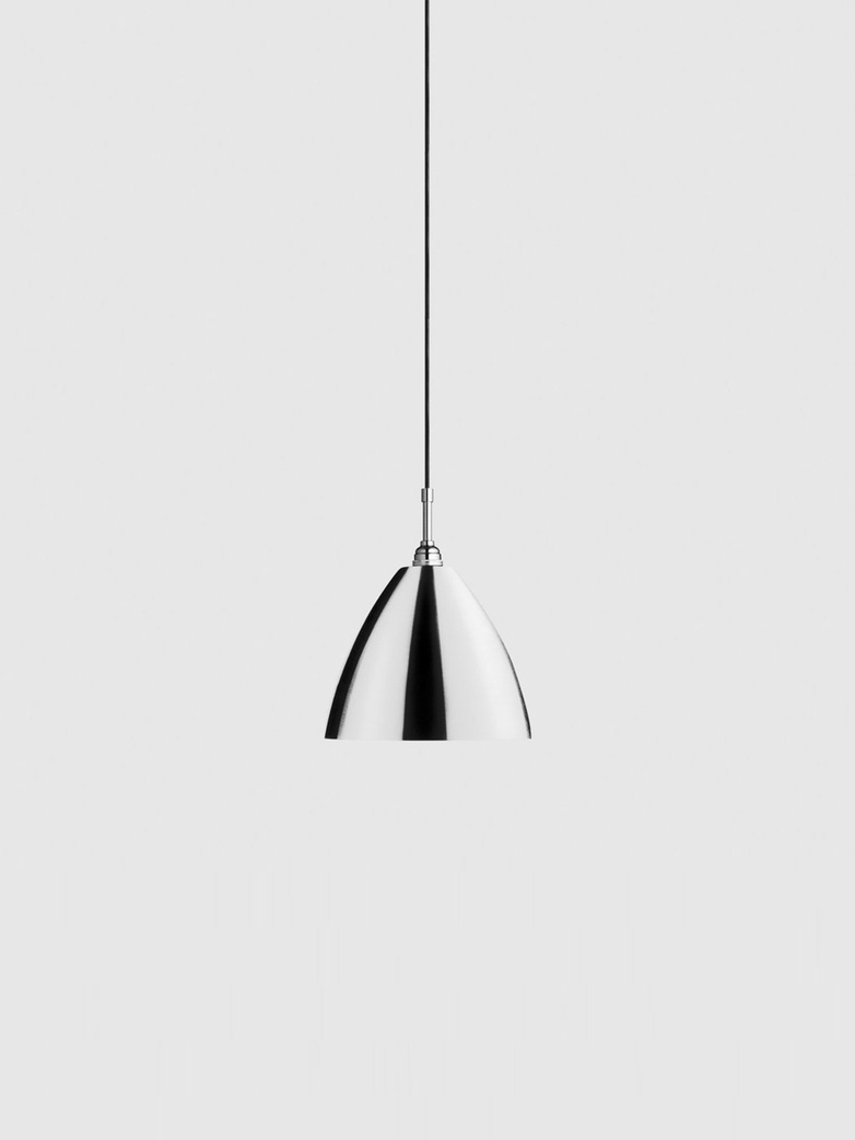 Bestlite BL9 Pendant – Chrome - Bone China White – Medium