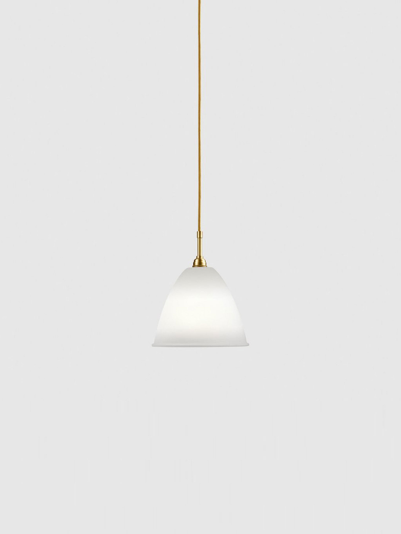 Bestlite BL9 Pendant – Brass Base - Bone China White – Medium