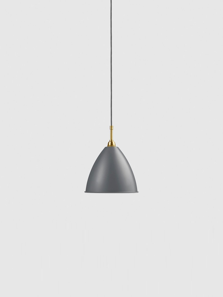 Bestlite BL9 Pendant – Brass Base – Grey – Medium