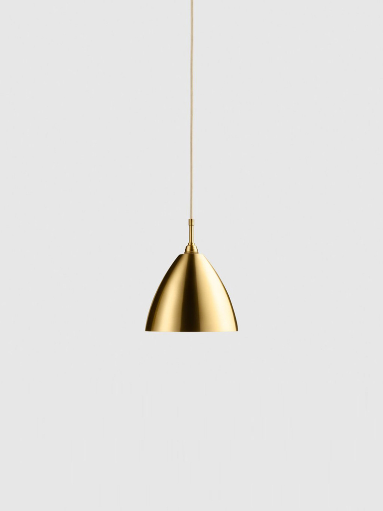 Bestlite BL9 Pendant – Brass Base – White – Medium