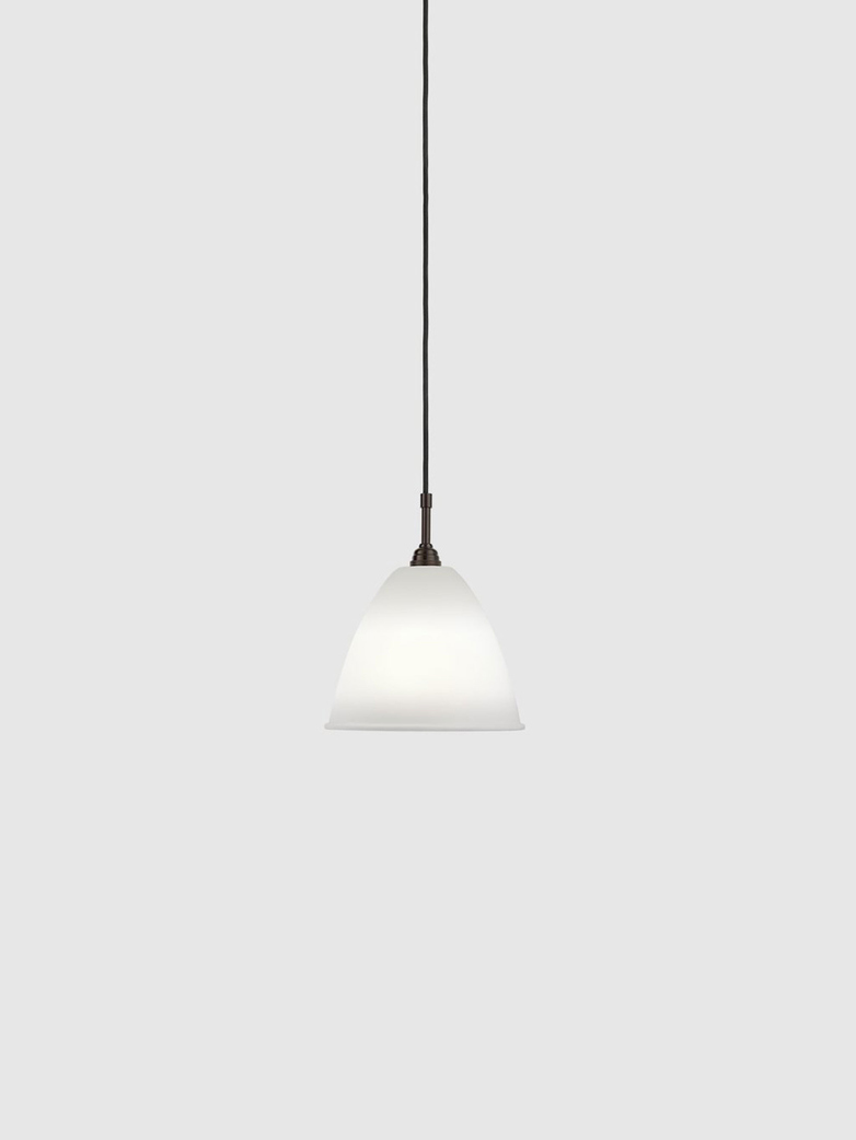 Bestlite BL9 Pendant – Black Brass Base – Bone China White – Medium