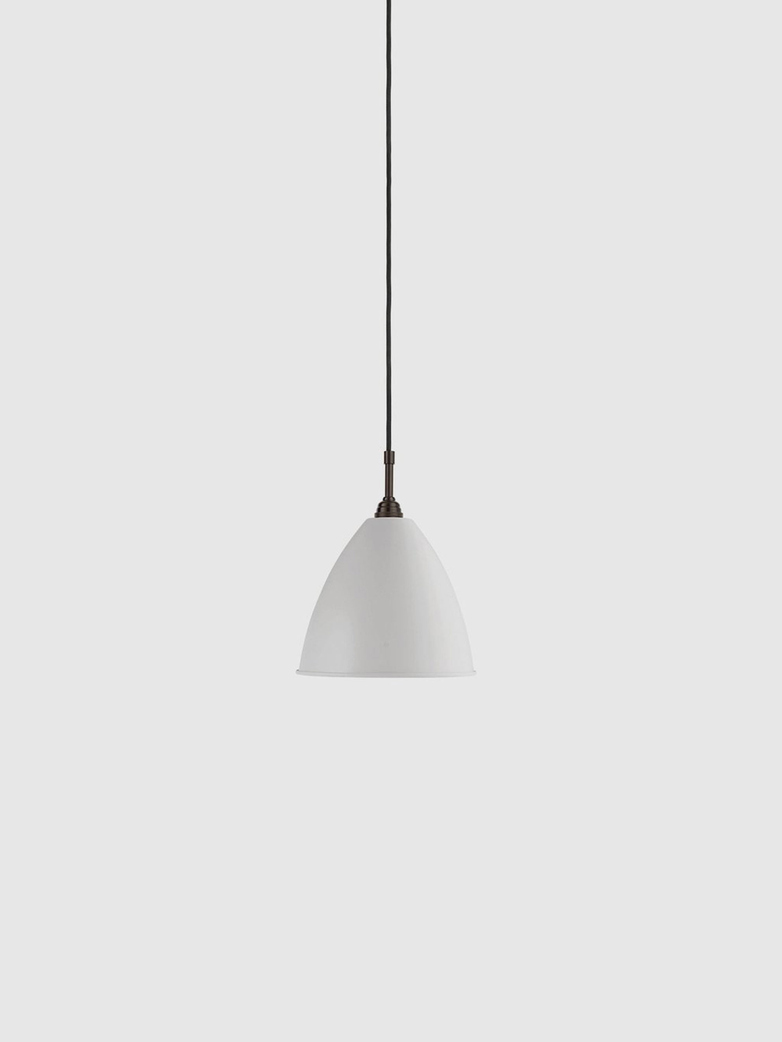 Bestlite BL9 Pendant – Black Brass Base – Classic White – Medium