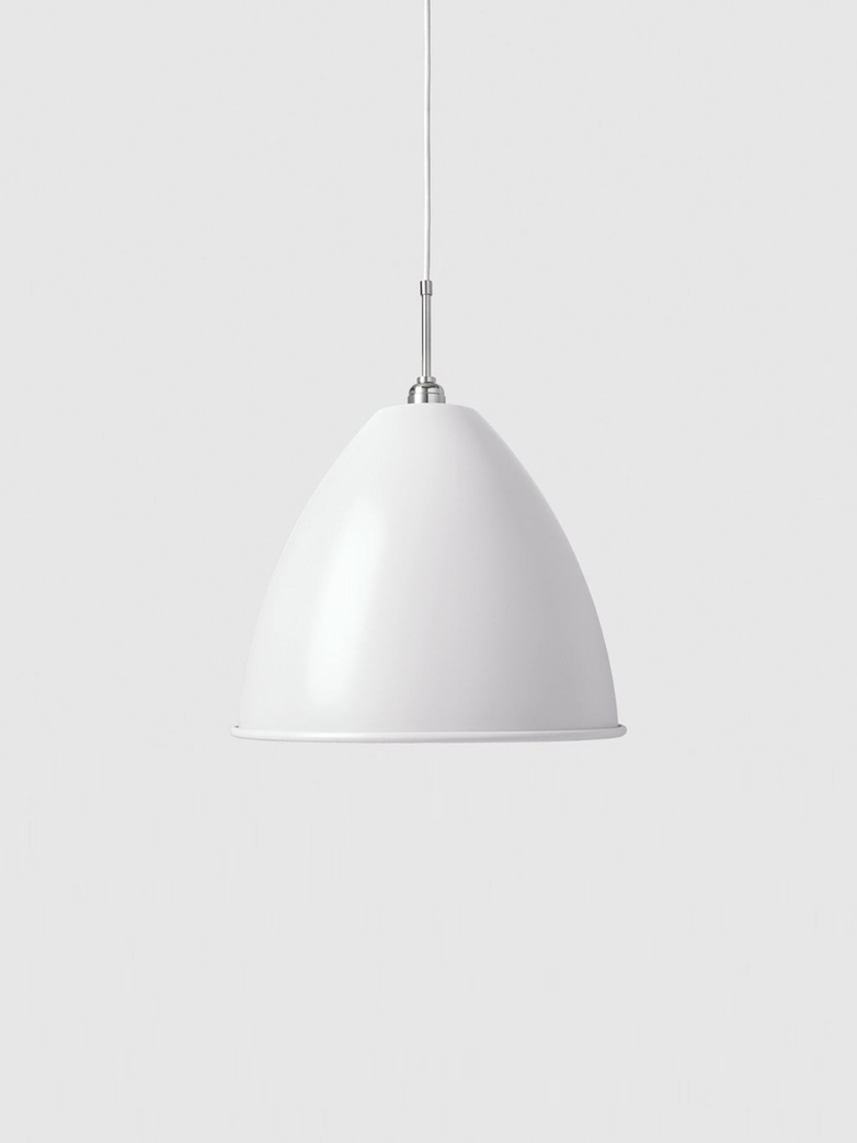 Bestlite BL9 Pendant – Chrome Base – White – Large
