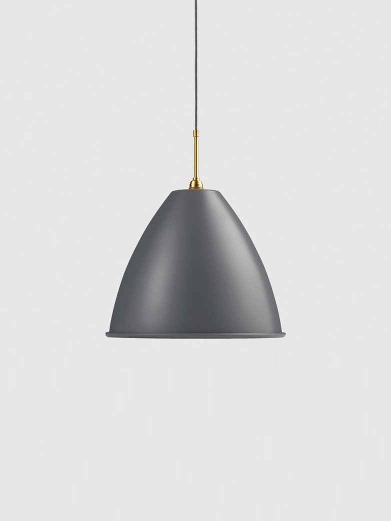 Bestlite BL9 Pendant – Brass Base – Grey – Large