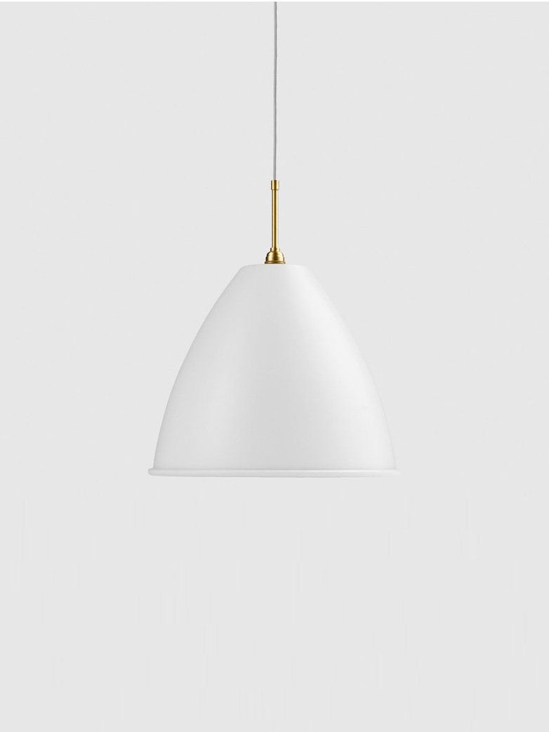 Bestlite BL9 Pendant – Brass Base – White – Large