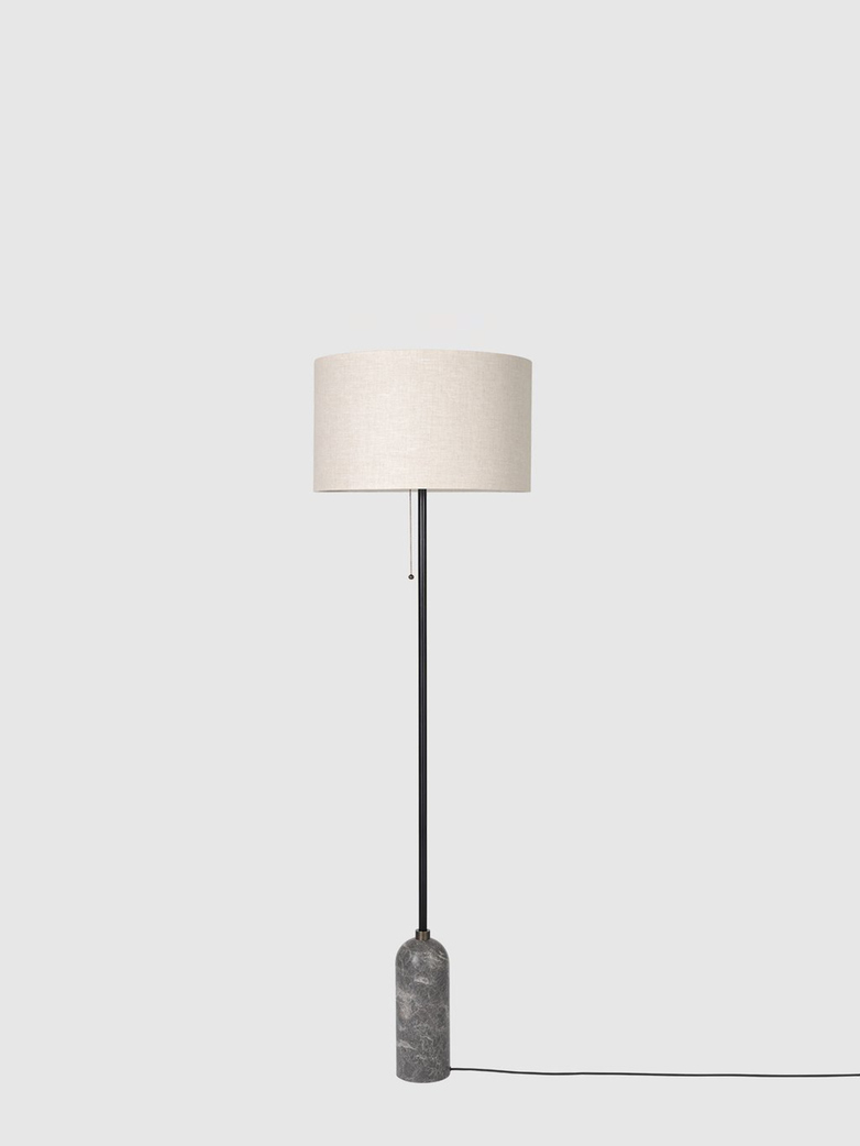 Gravity Floor Lamp - Grey Marble Base - Canvas