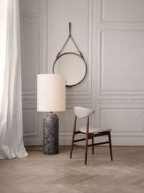Gravity Floor Lamp XL – Black Marble Base – Canvas – High
