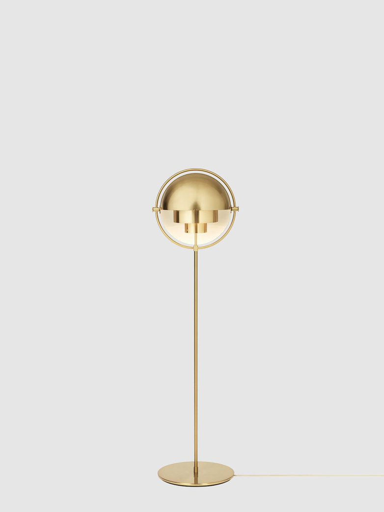 Multi-Lite Floor Lamp – Brass Base – Shiny Brass
