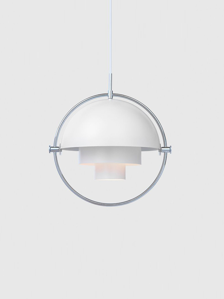 Multi-Lite Pendant – Chrome Base – White Semi Matt