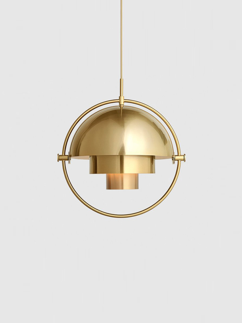 Multi-Lite - Pendant - Brass Base - Shiny Brass