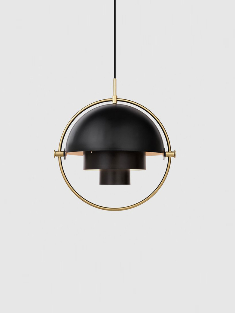 Multi-Lite – Pendant – Brass Base – Soft Black Semi Matt