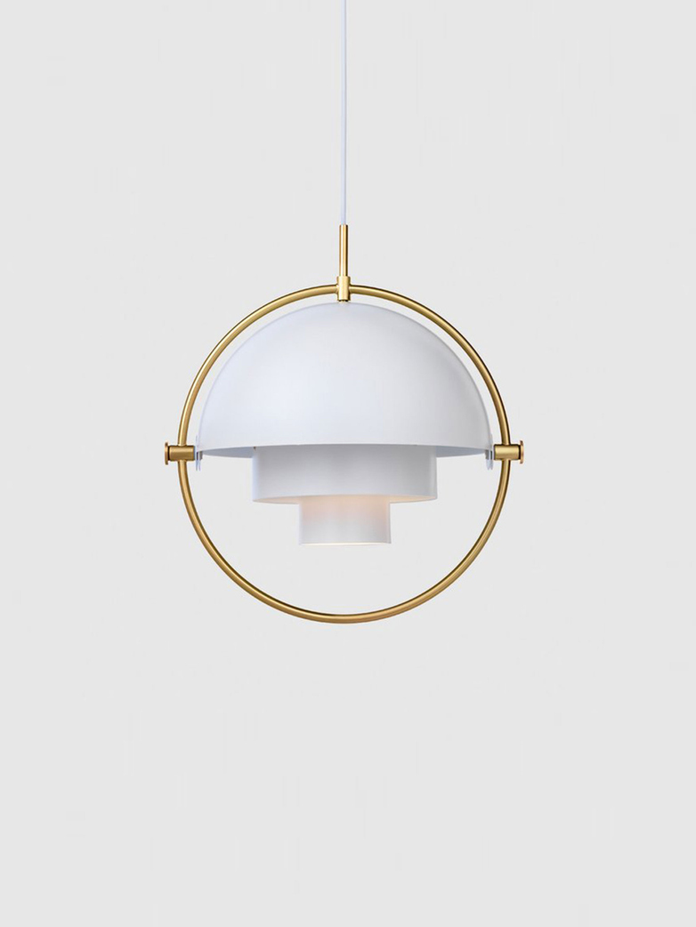 Multi-Lite – Pendant – Brass Base – White Semi Matt