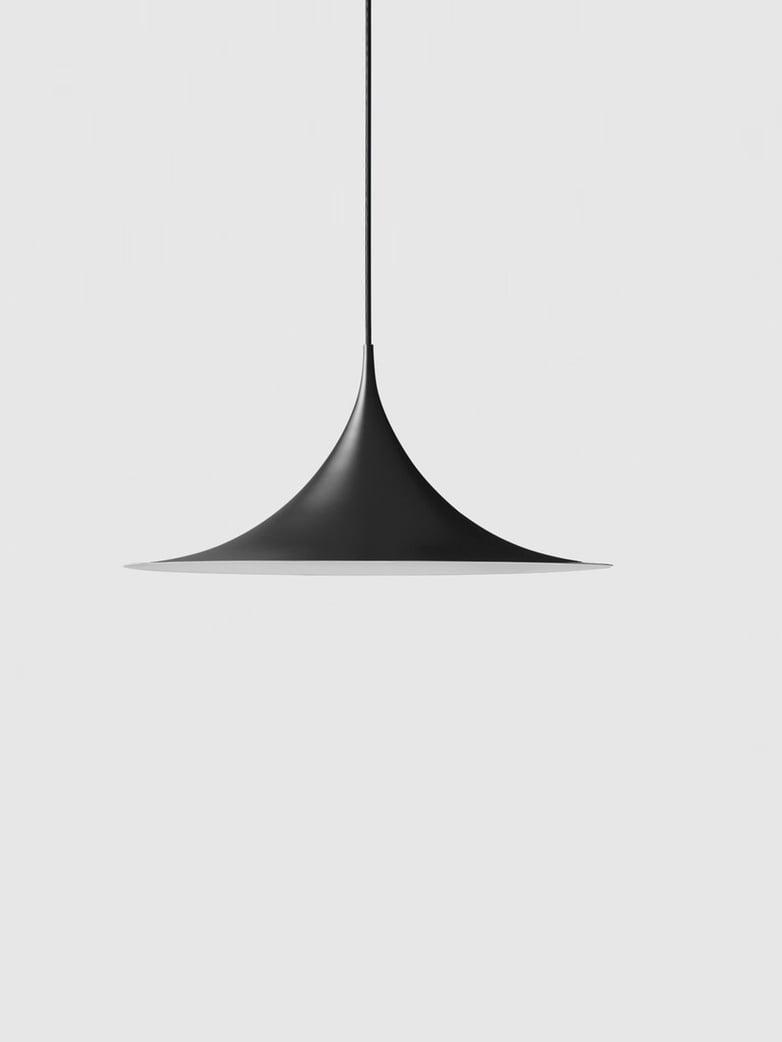 Semi Pendant – Black Semi Matt – Medium
