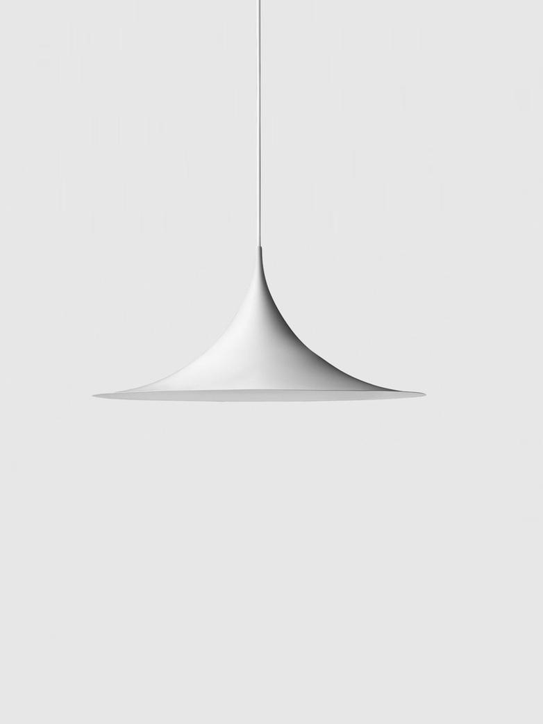 Semi Pendant – White Semi Matt – Medium
