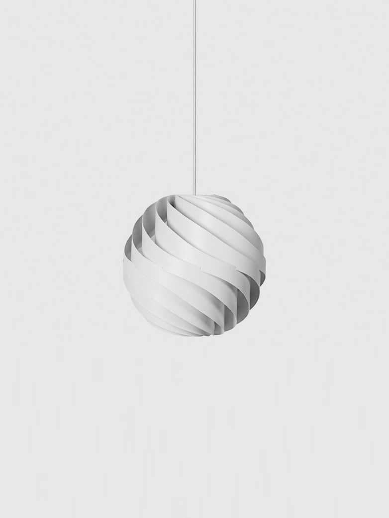 Turbo Pendant – White Semi Matt – Medium