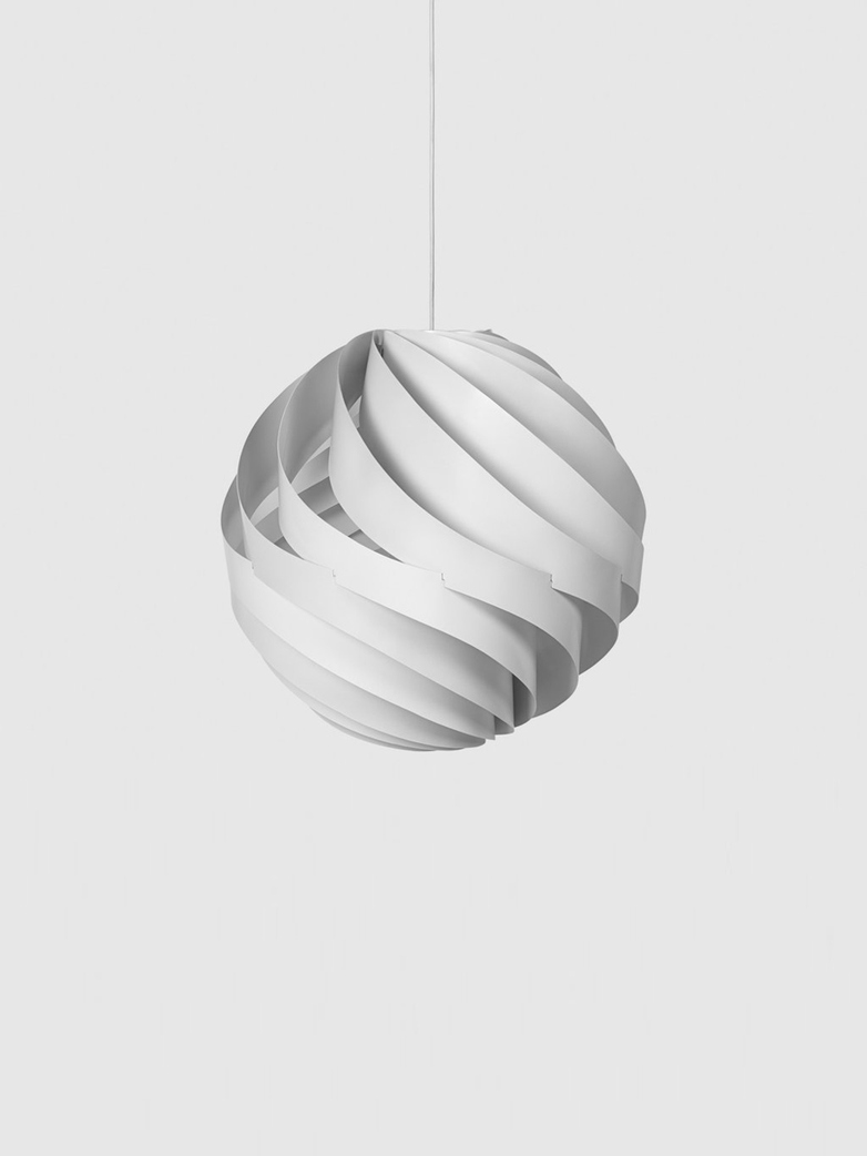 Turbo Pendant – White Semi Matt – Large
