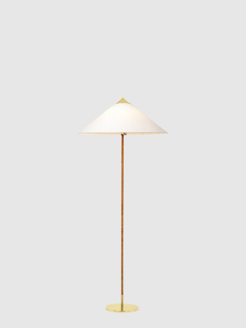 9602 Floor Lamp – Brass Base – Canvas