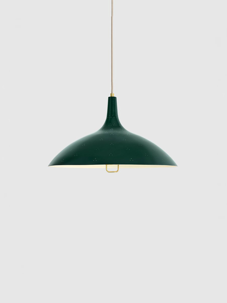 1965 Pendant – Brass Base – Bistro Green