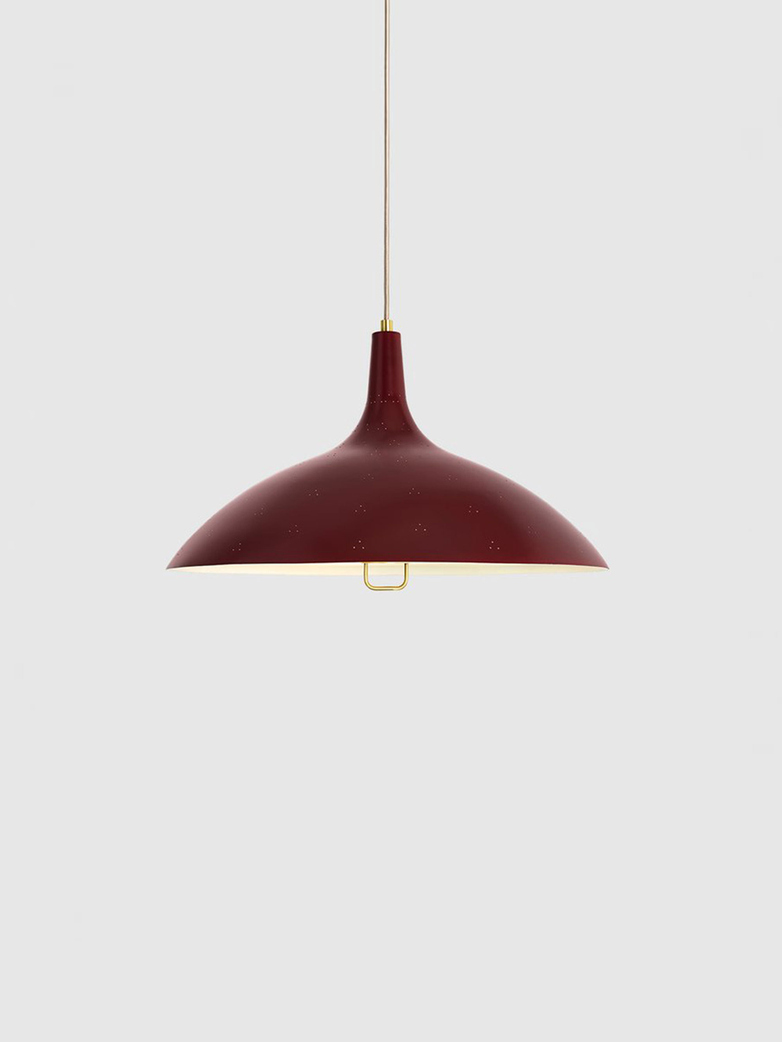 1965 Pendant – Brass Base – Chianti Red