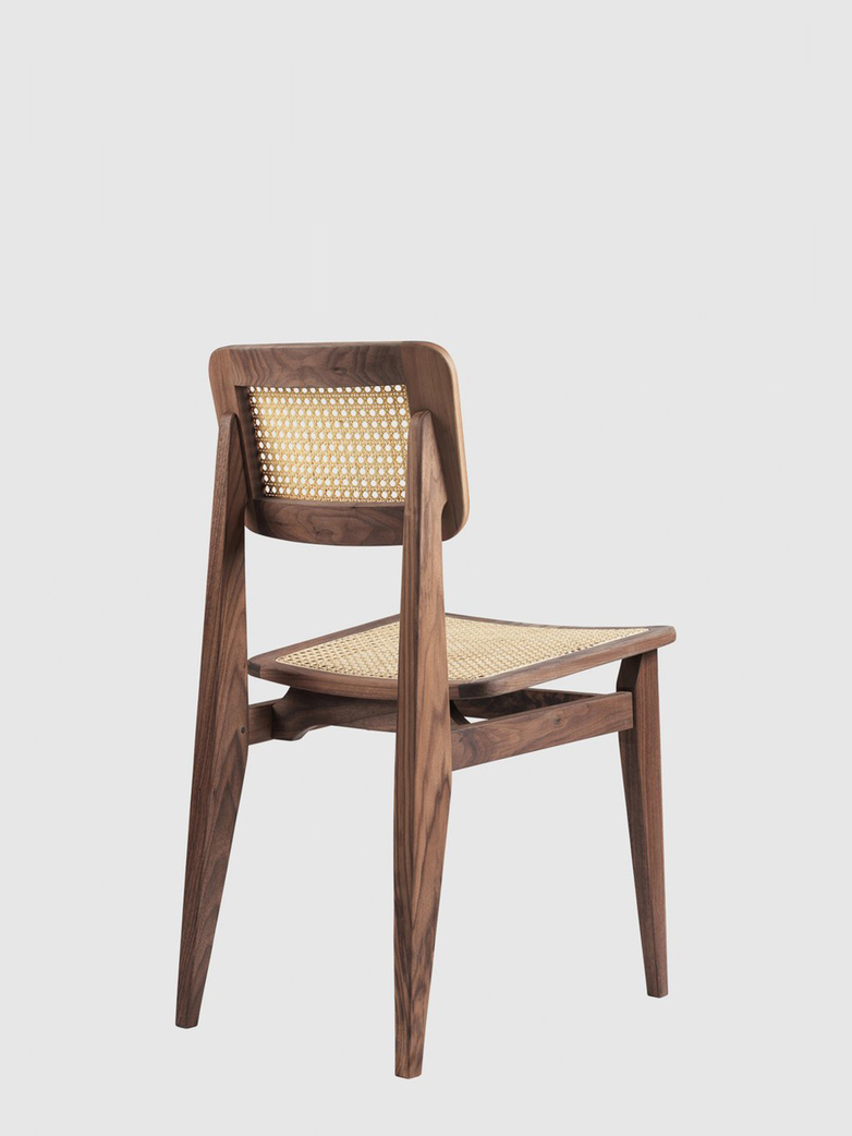 C-Chair Dining Chair – French Cane – Oiled American Walnut