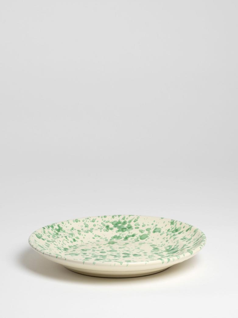 Spruzzi Vivente – Dinner Plate 28 cm - Green on Creme