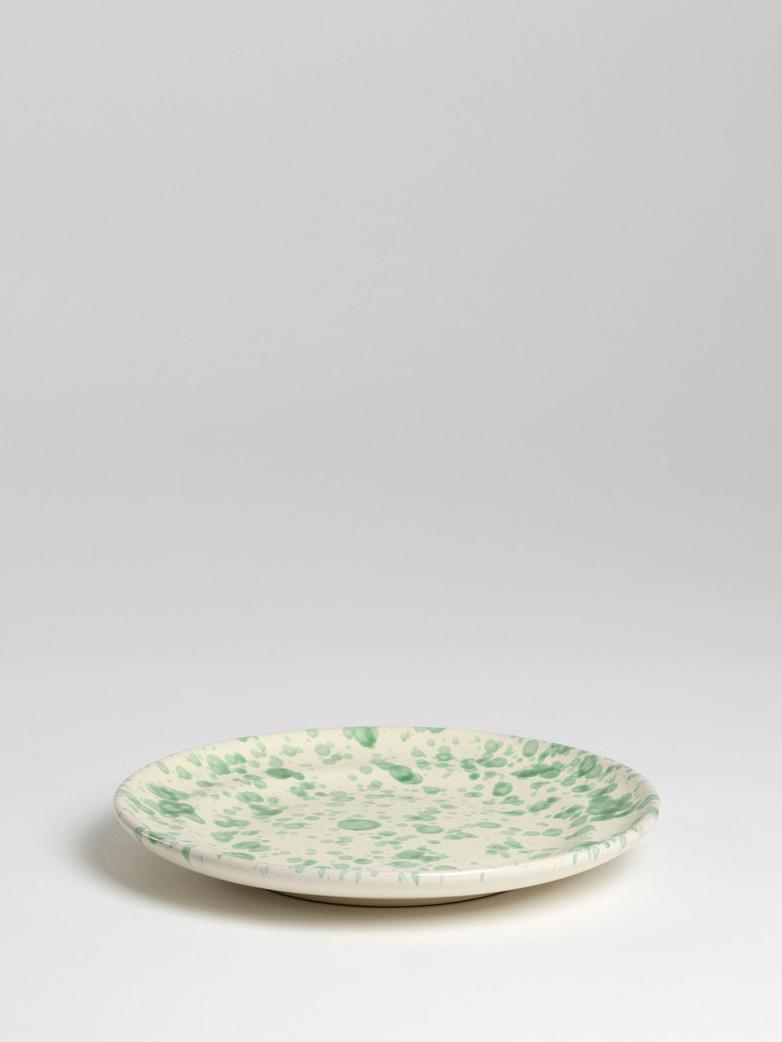 Spruzzi Vivente - Dinner Plate 24 cm - Green on Creme