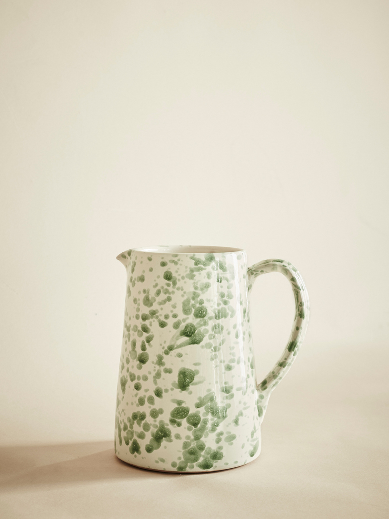 Spruzzi Vivente – Pitcher – Creme/Green