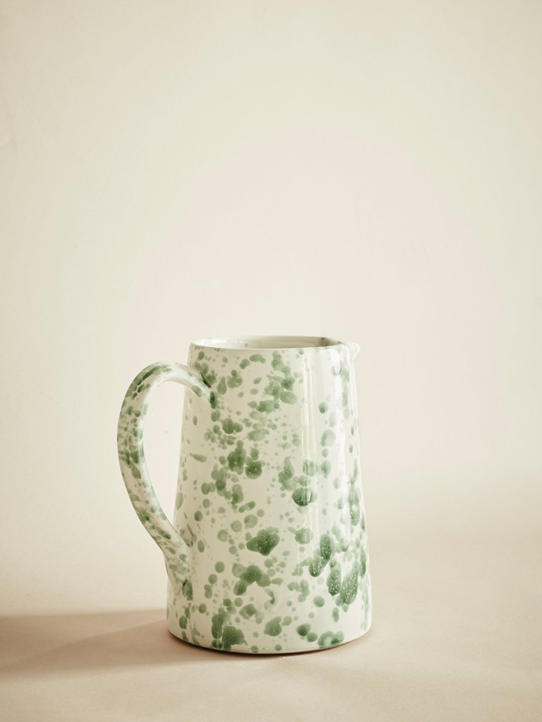 Spruzzi Vivente - Pitcher - Green on Creme