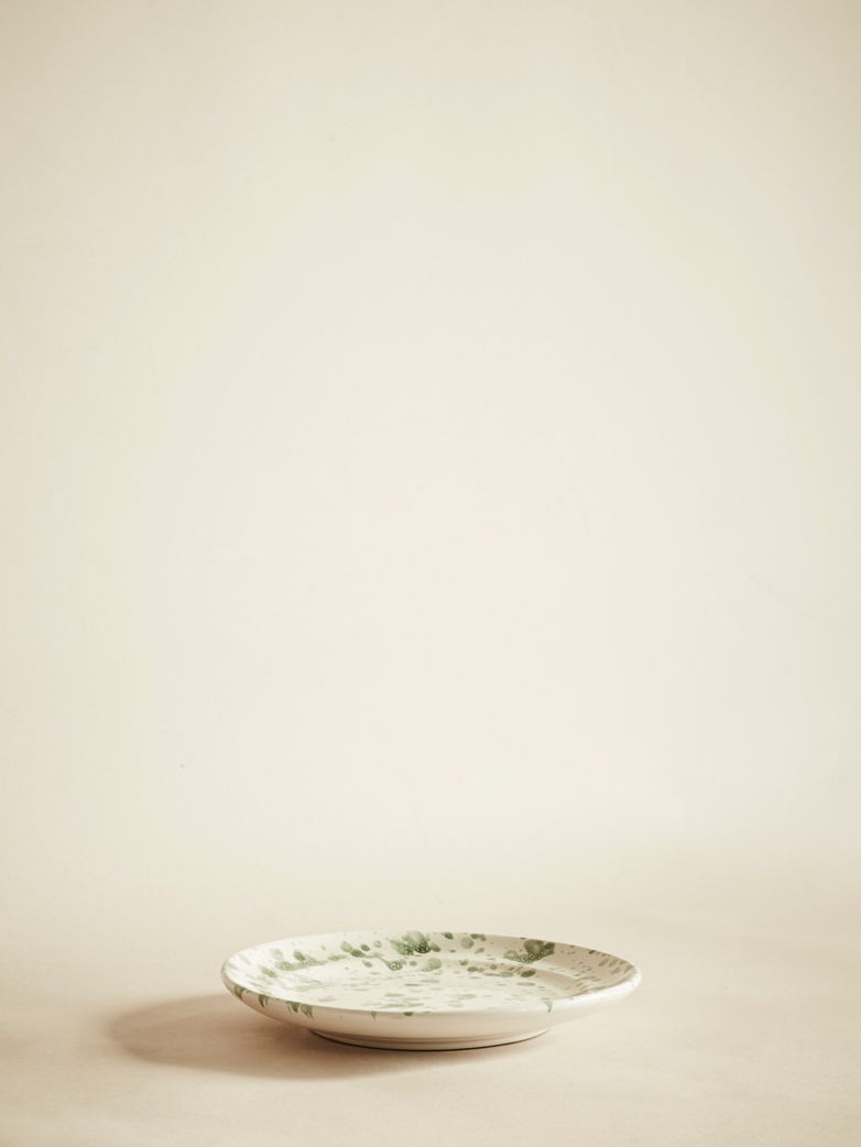 Spruzzi Vivente – Plate – Green on Creme