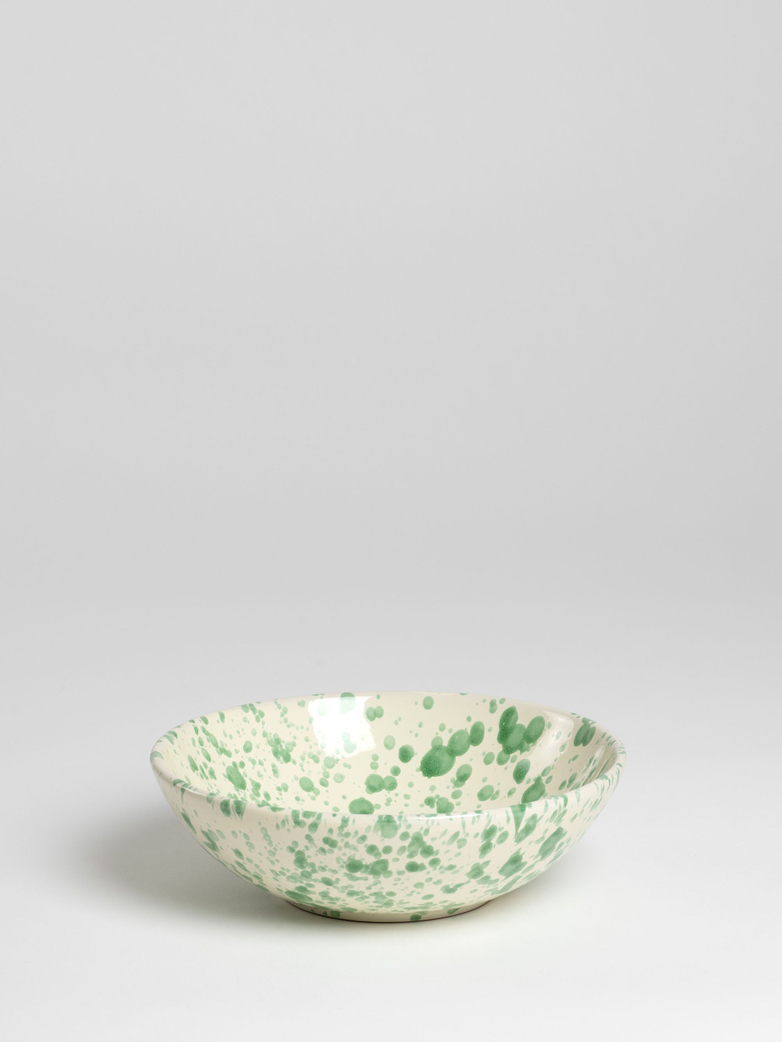Spruzzi Vivente - Small Sallad Bowl - Green on Creme
