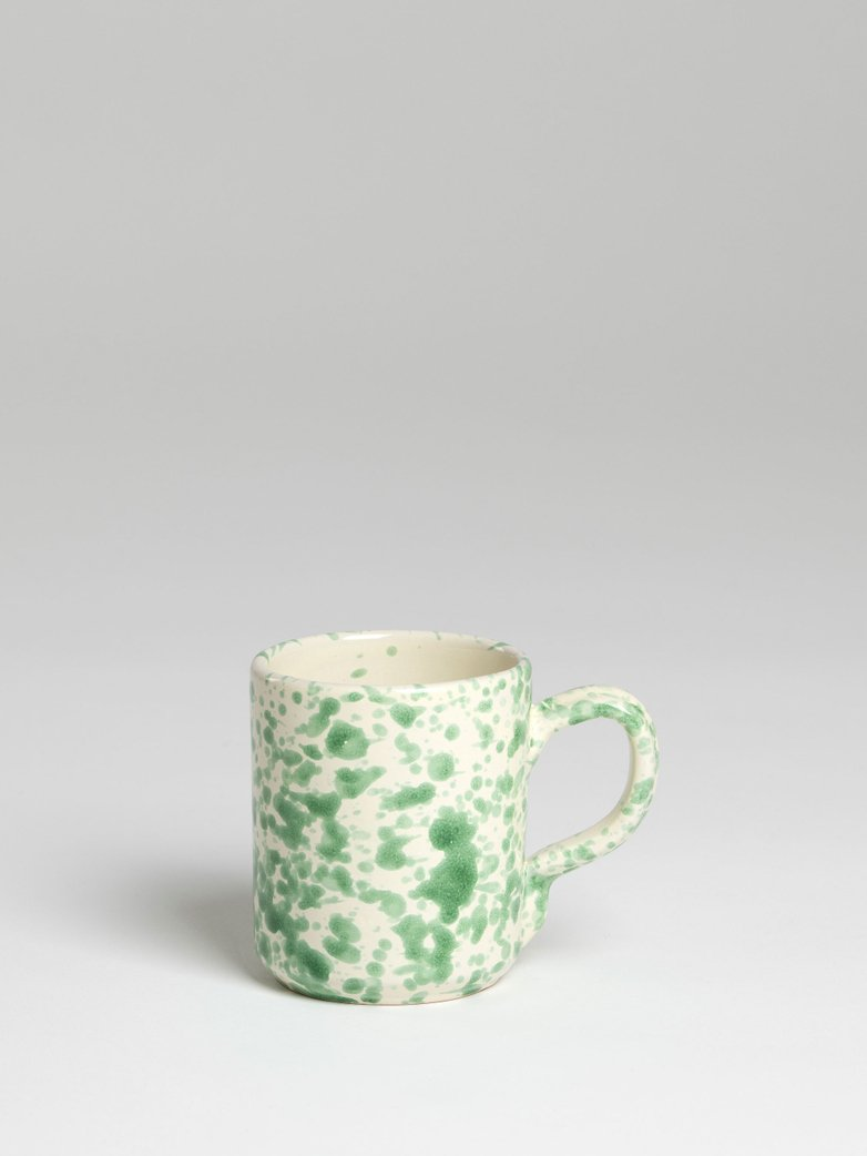 Spruzzi Vivente - Mug with Handle - Green on Creme