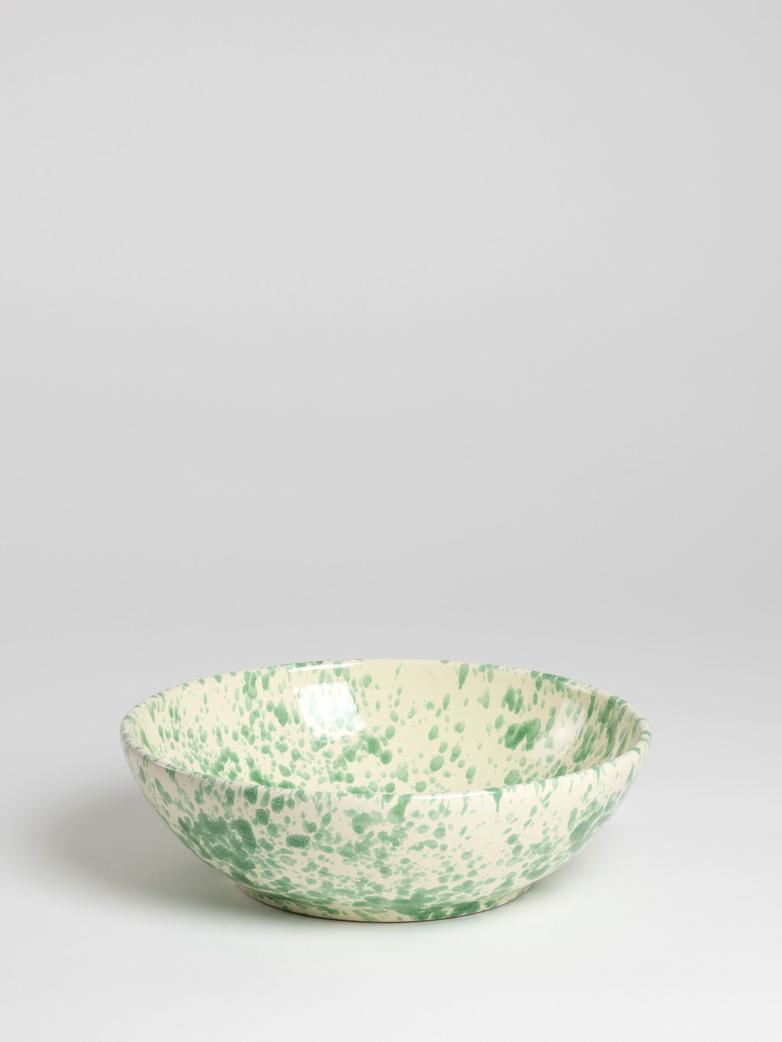 Spruzzi Vivente - Splatter Bowl – Green on Creme