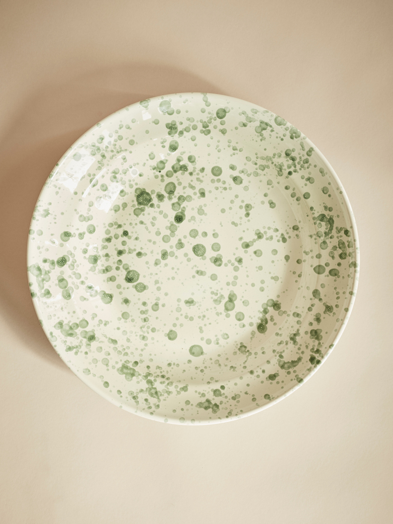Spruzzi Vivente – Big Serving Bowl – Green on Creme