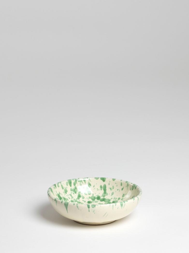 Spruzzi Vivente - Small Bowl - Green on Creme