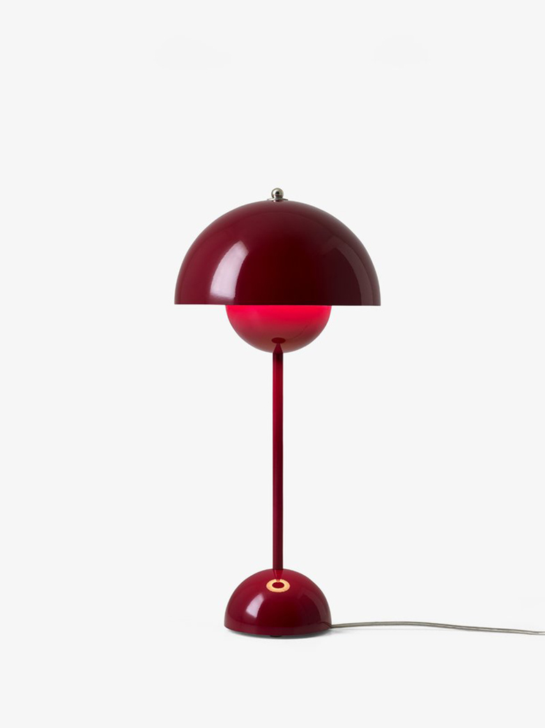 Flowerpot Table lamp VP3 Deep red