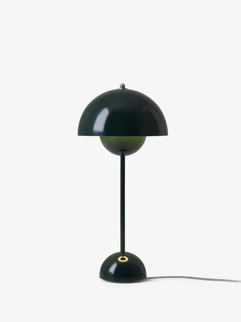 Flowerpot VP3 Table Lamp – Dark Green