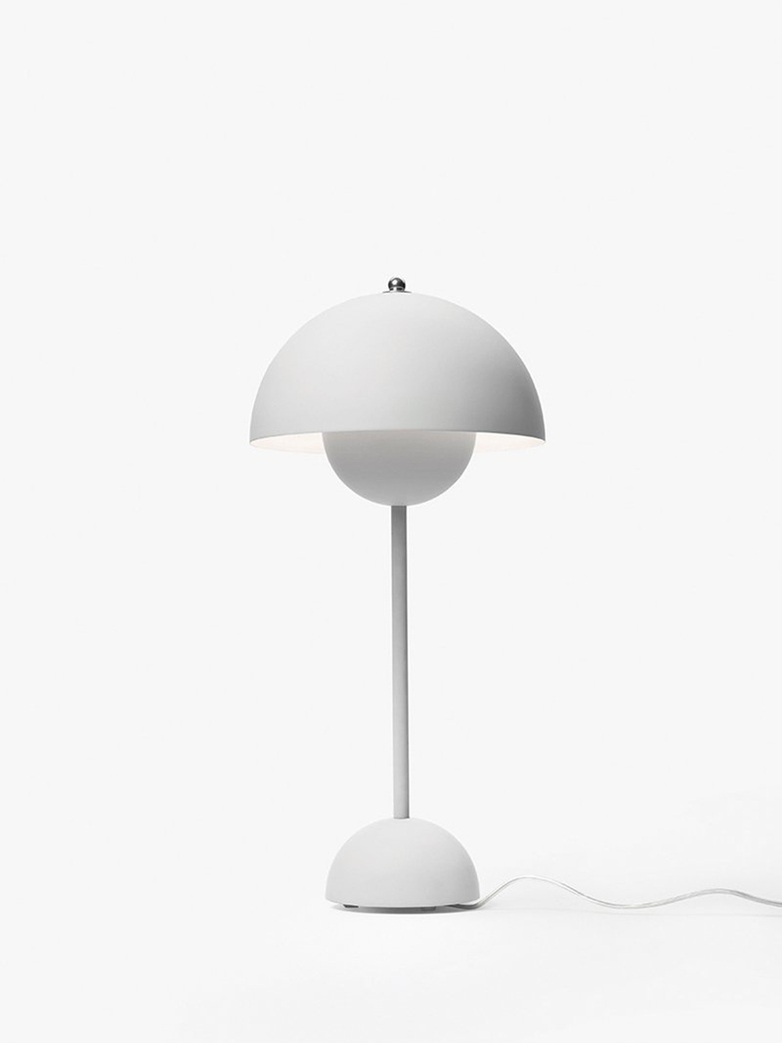 Flowerpot VP3 Table Lamp – Matt Light Grey