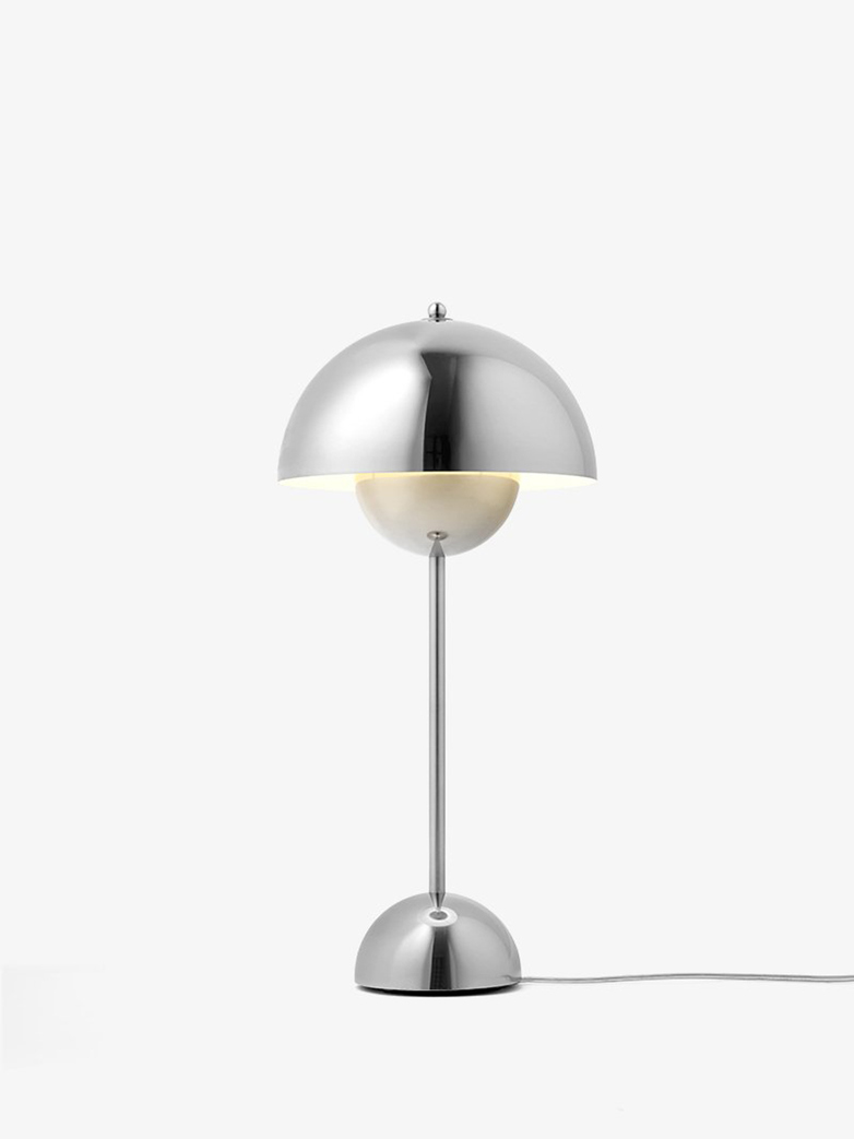 Flowerpot VP3 Table Lamp – Polished Stainless Steel